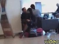 no panties upskirt voyeur video at the airport